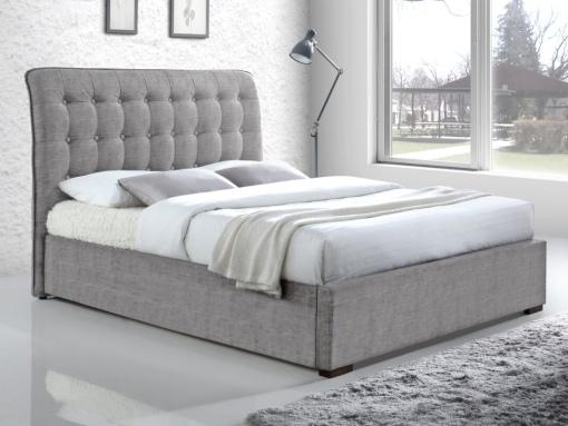 durham light grey fabric bed image