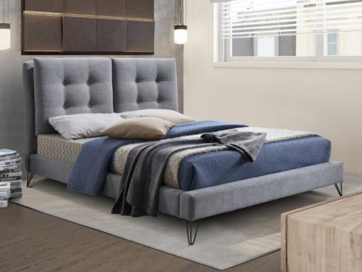 tanworth light grey fabric bed image