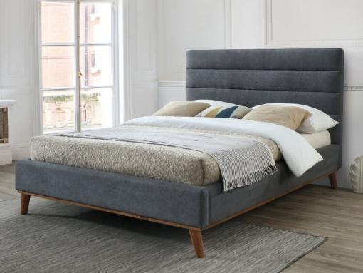 warwick dark grey fabric bed image