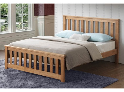 chicago-oak-wooden-bed-frame-image